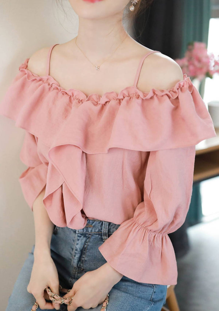 FIONA tops Look Me In The Eye Ruffle Blouse