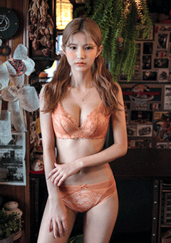 CHUU lingerie & nightwear Autumn Leaves Bra + Pantie Set