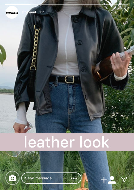 collection leather look