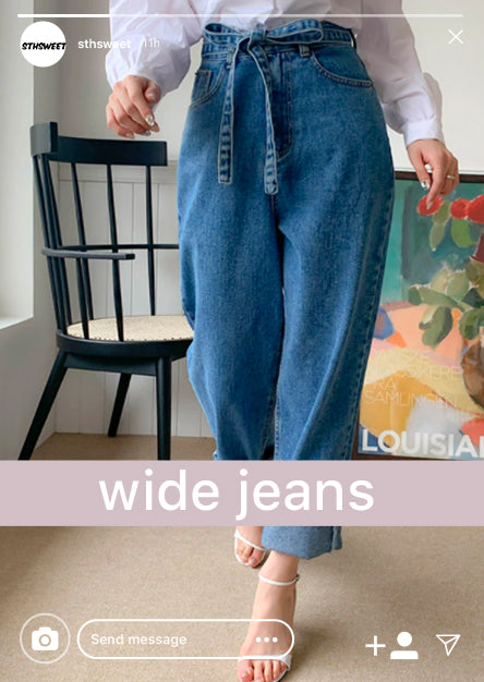 collection wide legs jeans