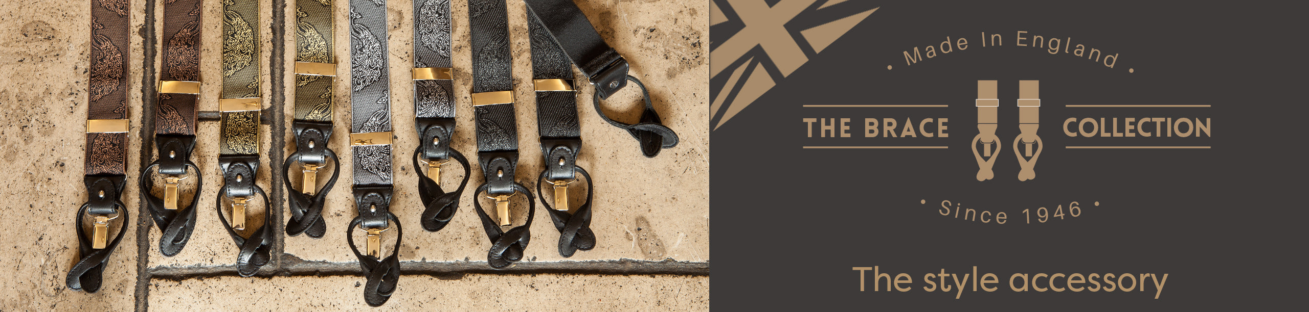 Men's premium braces handmade in England