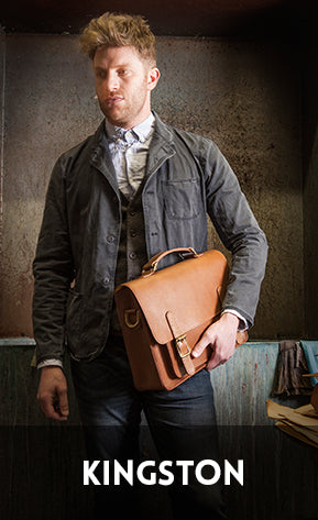 Men's handmade in England bags, braces and belts