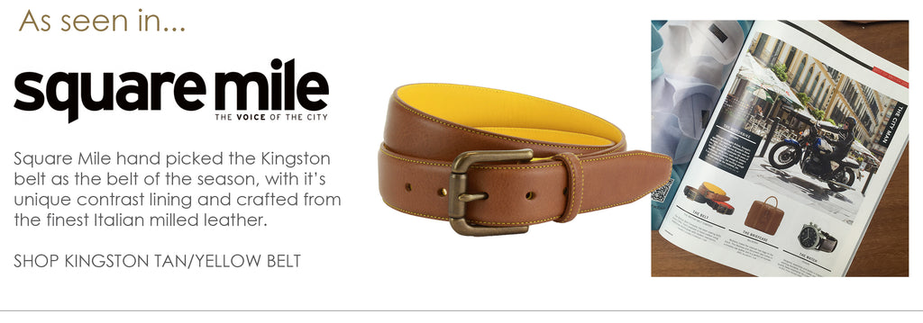 As seen in Square Mile - men's Kingston leather belt handmade in England