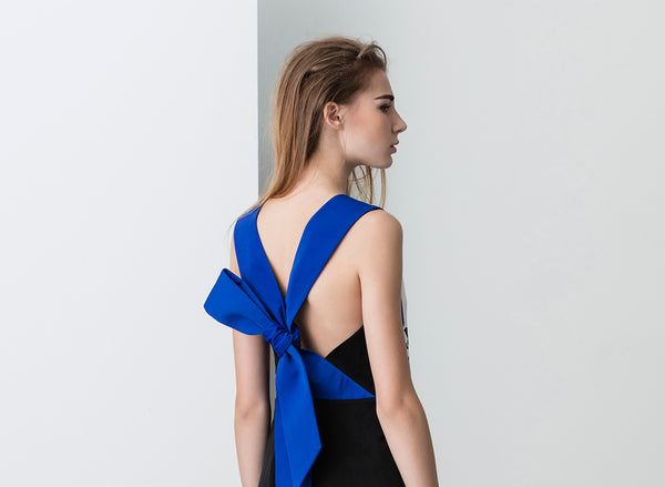 N12H Blossom Bow Back Dress - Detail