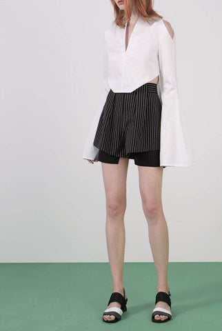 Ylin Lu Shorts with Box Pleats