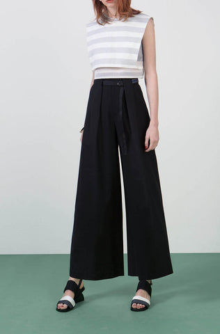 Ylin Lu Trousers with Box Pleats