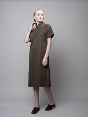 nana & bird Kaftan Dress in Khaki Green