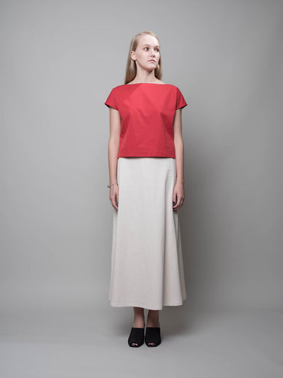 nana & bird Boat Neck Top in Red