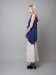 nana & bird Side Drape Top in Navy