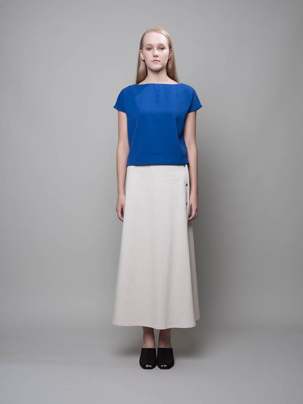 nana & bird Boat Neck Top in Cobalt Blue