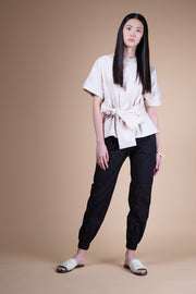 nana & bird Front Tie Top in Pinstripes