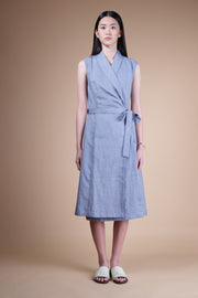 nana & bird Wrap Dress in Navy