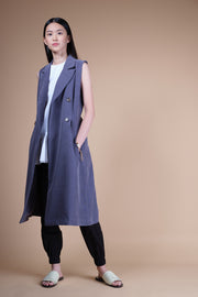 nana & bird Sleeveless Trench Dress in Navy