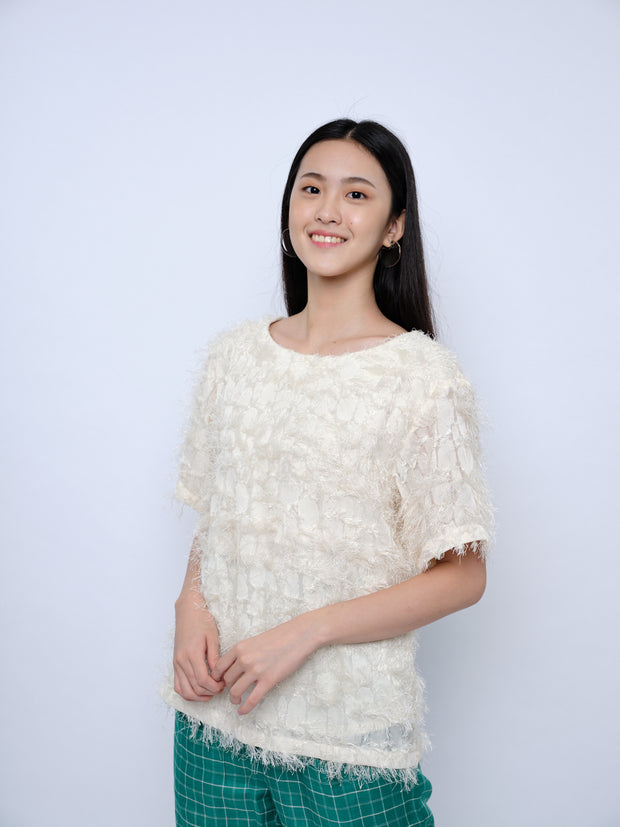 nana & bird Drop Shoulder Top in Cream