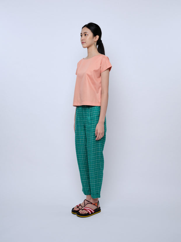 nana & bird Boat Neck Top in Coral