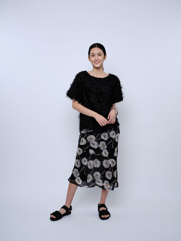 nana & bird Drop Shoulder Top in Black