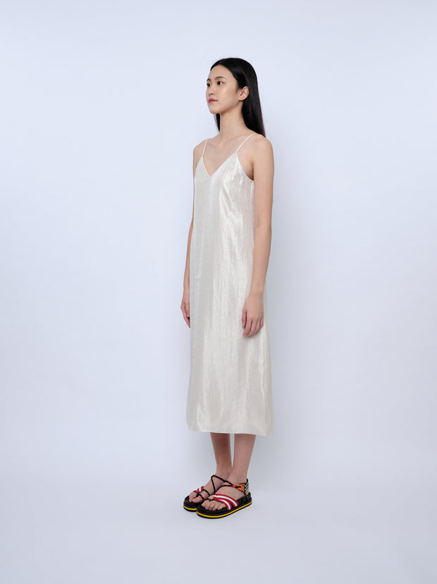 nana & bird Slip Dress in Champagne
