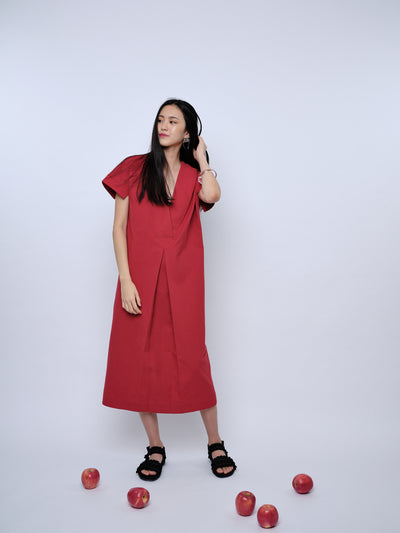nana & bird Drop Waist Dress in Red