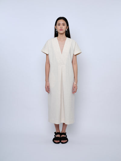 nana & bird Drop Waist Dress in Oatmeal