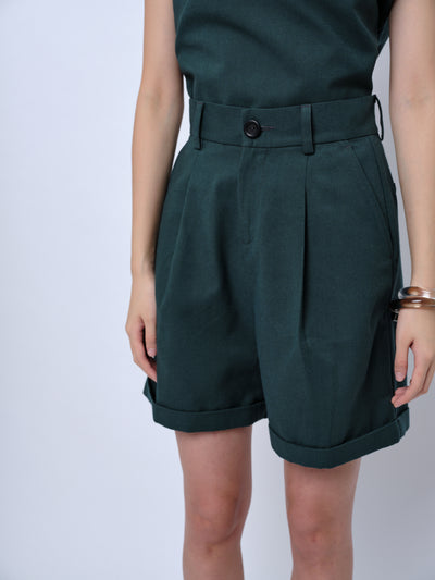 nana & bird Safari Shorts in Forest Green