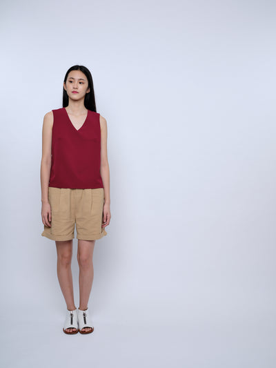 nana & bird V Neck Top in Wine