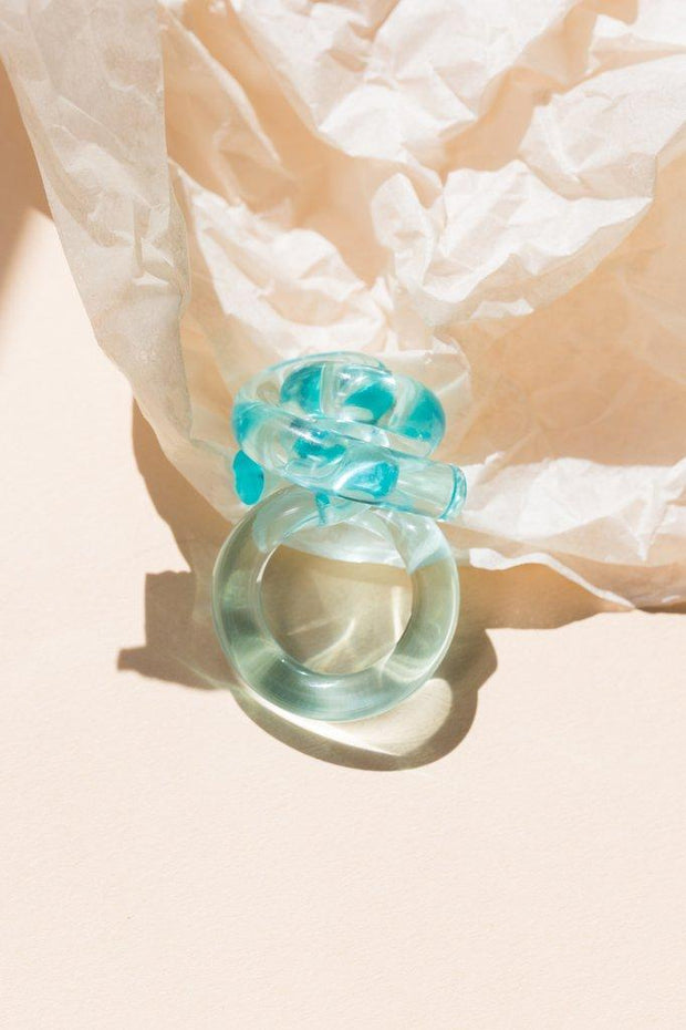 Corey Moranis Knot Ring in Turquoise