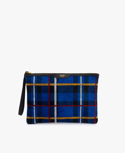 Wouf Blue Tartan Night Clutch