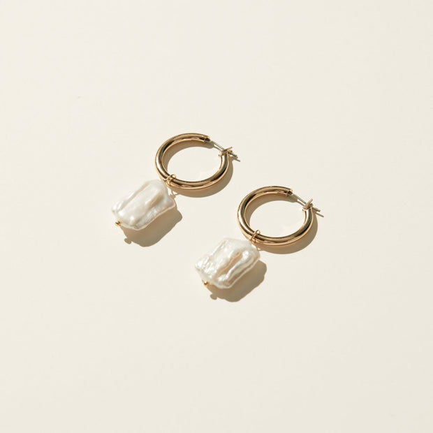 Maslo Square Pearl Hoops