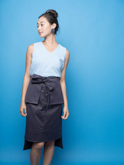 nana & bird Peplum Skirt in Navy