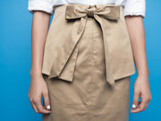 nana & bird Peplum Skirt in Khaki