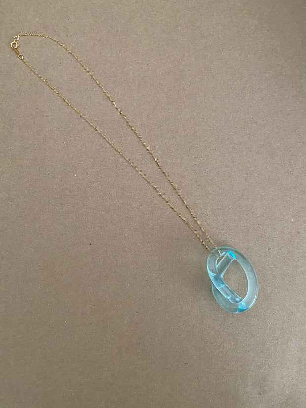 Corey Moranis Knot Necklace in Turquoise