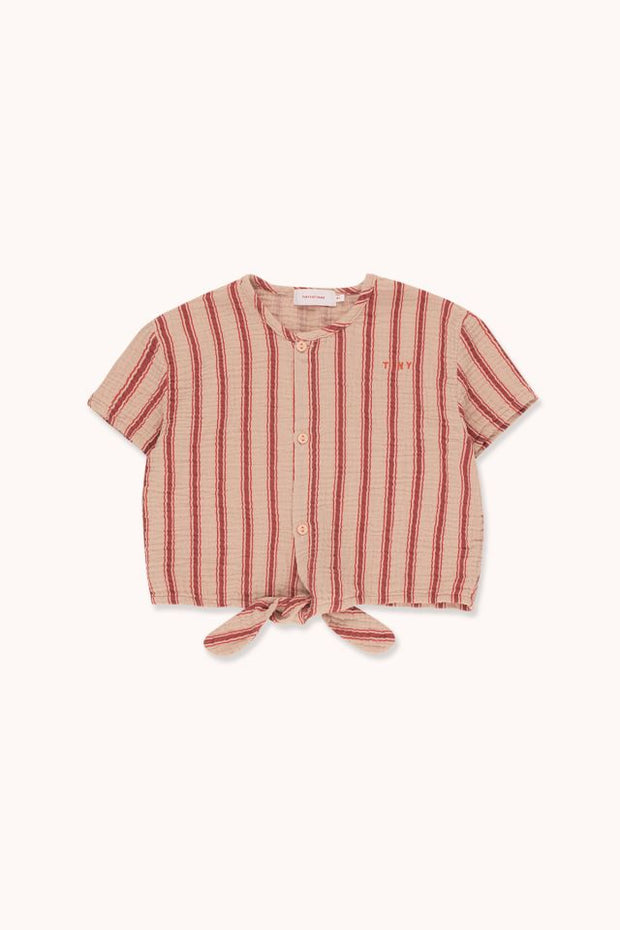 Tiny Cottons Retro Stripes Tie Front Top