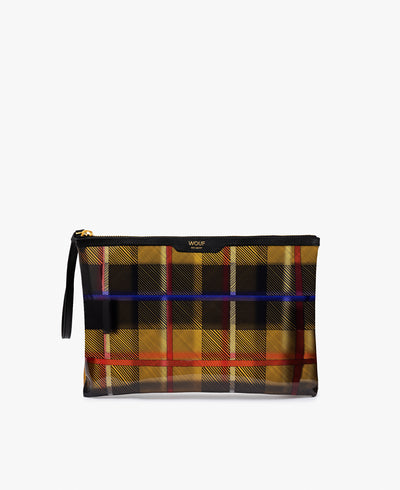 Wouf Yellow Tartan Night Clutch