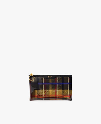 Wouf Yellow Tartan Pocket Clutch