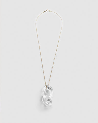 Corey Moranis Figure Eight Necklace in Clear