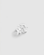 Corey Moranis Figure Eight Ring in Clear