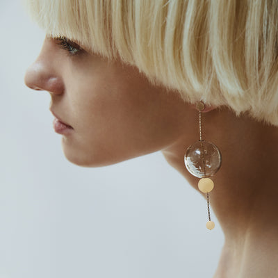 Annika Inez Glassy Orbit Earrings