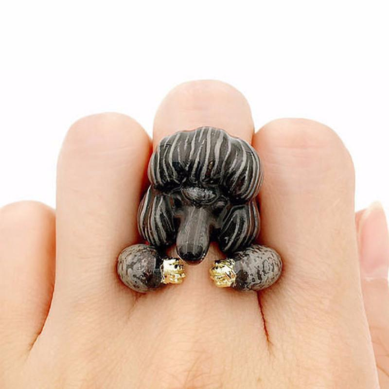 Mary Lou Poodle Duo Ring