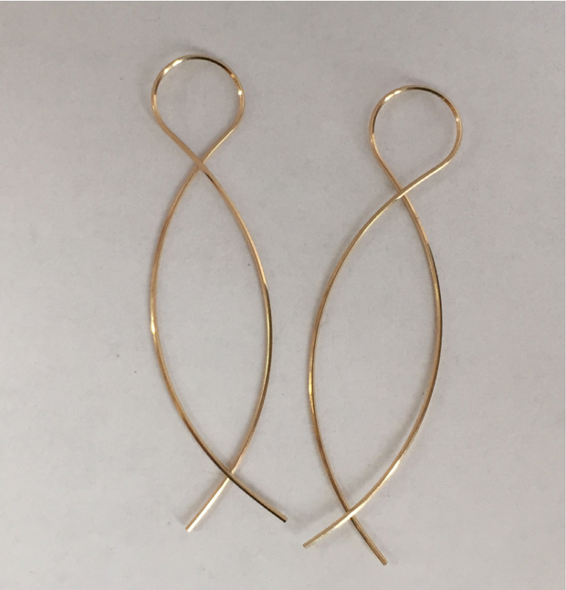 Annika Inez Infinity Earrings - Large