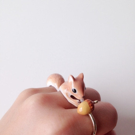 Mary Lou Squirrel Trio Ring