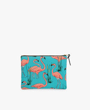 Wouf Pink Flamingos Large Pouch