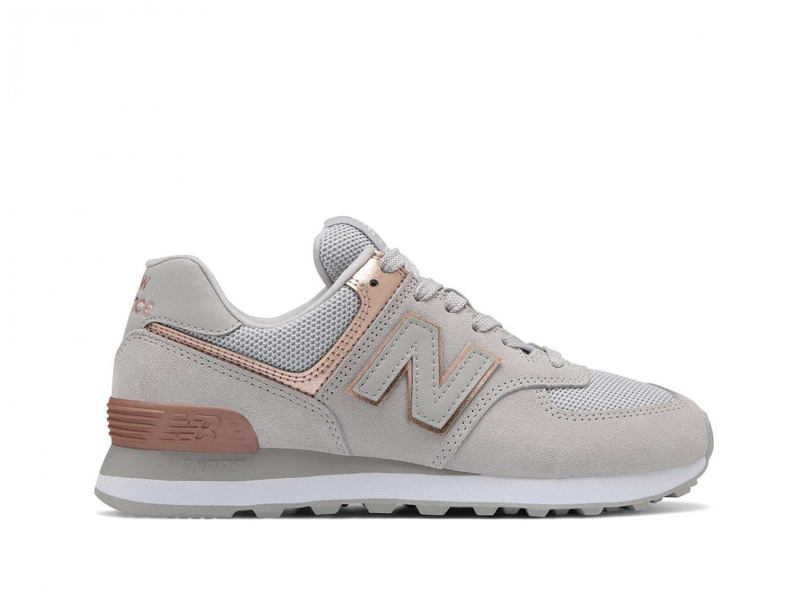 new balance 574 mujer gris y rosa