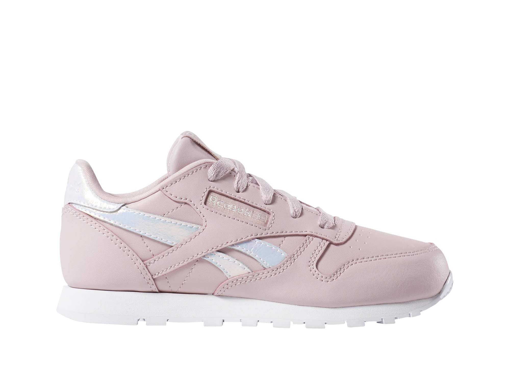 Zapatilla Reebok Cl Leather Junior Rosado