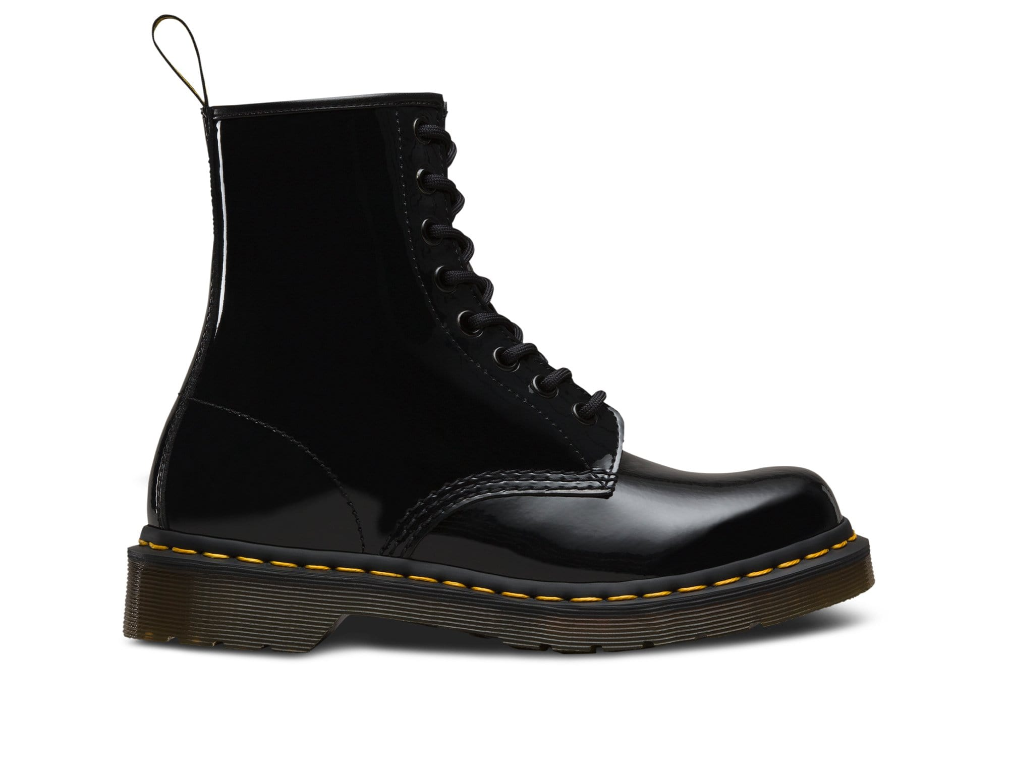 Dr Martens 1460 W Patent Lamper Mujer Negro