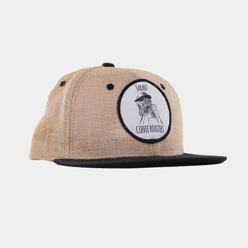 Burlap Snapback Hat - Apparel - Jaunt Coffee Roasters