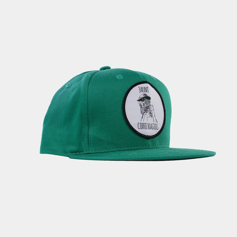 Green Snapback Hat - Apparel - Jaunt Coffee Roasters