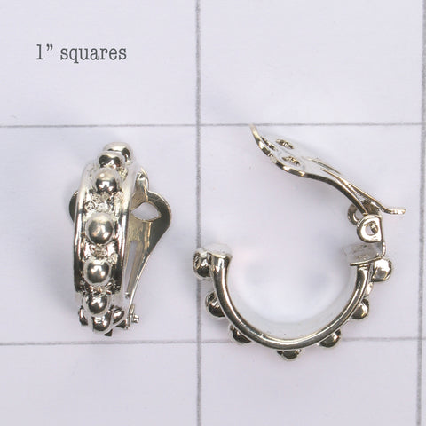 Mix and match Silver plated bobble earring clip