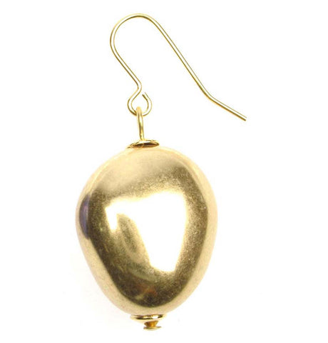 Antique Gold plated nugget earrings