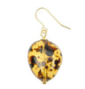 Tortoiseshell resin  nugget earrings