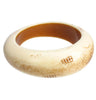 Antique ivory colour wavy bangle
